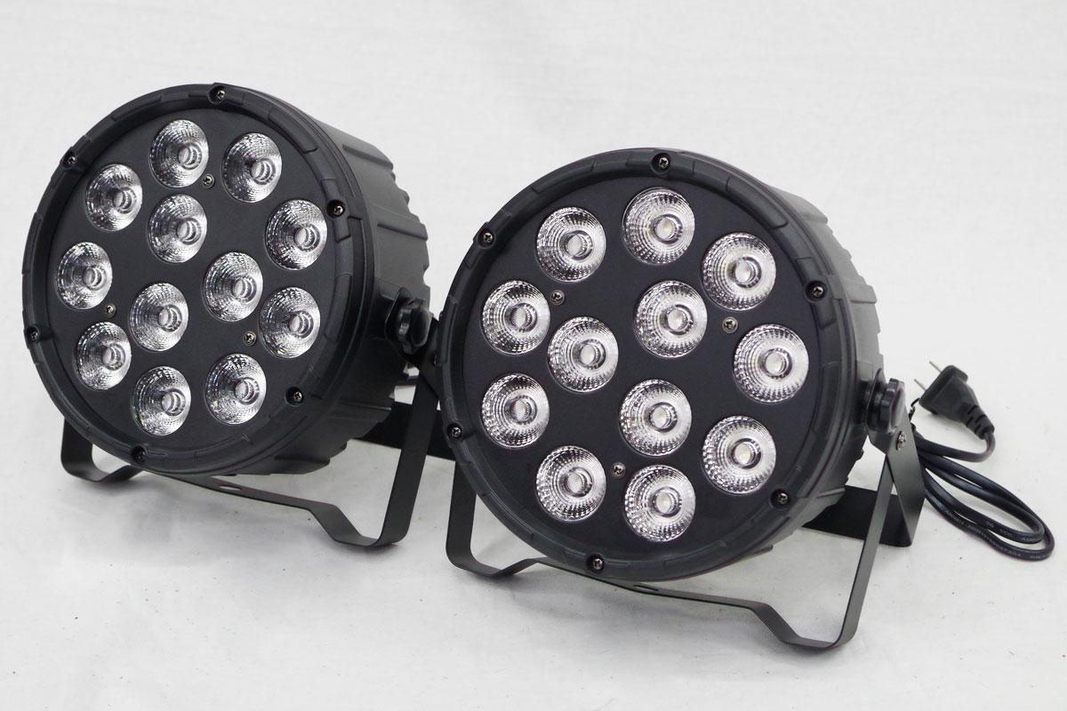【エントリーで最大P28倍 5/11 20:00-5/18 01:59】送料無料 10W×12灯 RGBW 4in1 PARライト LEDステージライト 舞台照明 DMX線付き 2台set