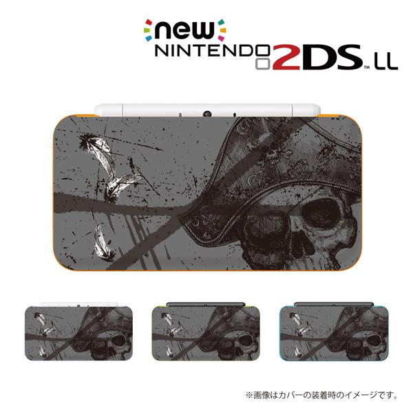名入れ のできるニンテンドー2DS 3DS専用 流行 デザインカバー 名入れできます new Nintendo 2DS LL 3DS カバー ケース ハード new3dsll new2dsll ドクロ ディーエス NEW ARRIVAL スリー グレー 海賊 ニュー 2dsll 任天堂 スカル6 ガイコツ 表面プリント 骸骨 メール便送料無料 3dsll