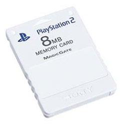 【新品】PS2周辺機器 PlayStation 2専用メモリーカード (8MB)セラミック・ホワイト