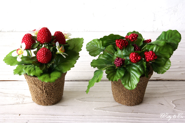 auc-wutty | rakuten global market: artificial foliage s strawberry