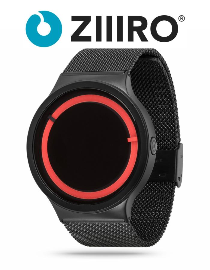 【ZIIIRO JAPAN公式】  ZIIIRO ジーロ 時計 エクリプス 黒/赤【ドイツ デザインウォッチ】Eclipse BLK/Red 腕時計 Z0012WBR ユニセックス対応 ペア おしゃれ プレゼント