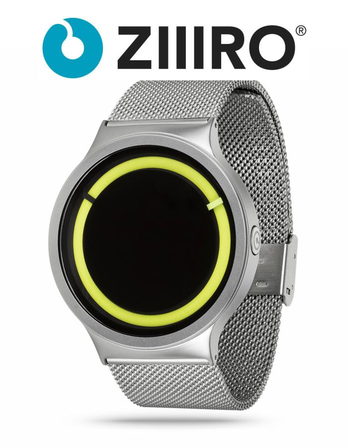 【ZIIIRO JAPAN公式】 ZIIIRO ジーロ 時計 エクリプス シルバー/レモン【ドイツ デザインウォッチ】Eclipse Chrome/Lemon 腕時計 ユニセックス対応 ペア おしゃれ プレゼント