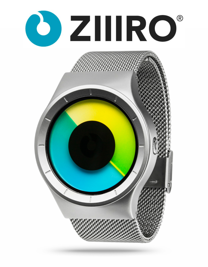 【ZIIIRO JAPAN公式】 ZIIIRO ジーロ 時計 セレステ シルバー/カラー【ドイツ デザインウォッチ】Celeste Chrome/Colored 腕時計 Z0005WSYG ユニセックス対応 ペア おしゃれ プレゼント