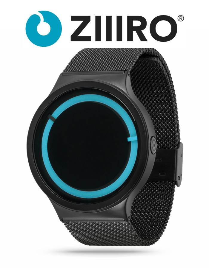 【ZIIIRO JAPAN公式】 ZIIIRO ジーロ 時計 エクリプス 黒/青【ドイツ デザインウォッチ】Eclipse Black Ocean 腕時計 Z0012WBBL ユニセックス対応 ペア おしゃれ プレゼント
