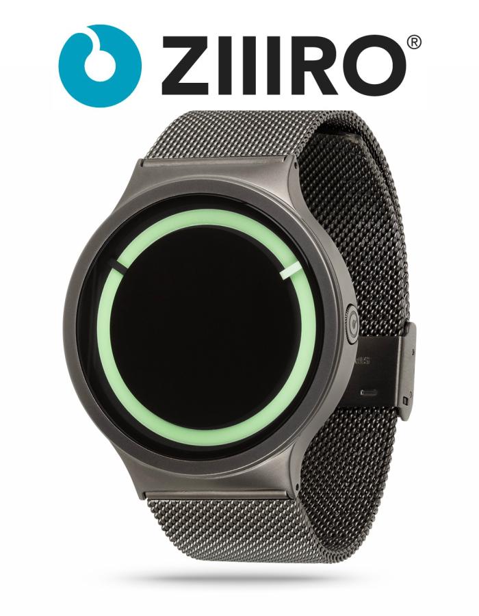 【ZIIIRO JAPAN公式】 ZIIIRO ジーロ 時計 エクリプス グレー/ミント【ドイツ デザインウォッチ】Eclipse Gunmetal/Mint 腕時計 Z0012WGC3 ユニセックス対応 ペア おしゃれ プレゼント