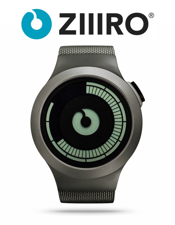 【ZIIIRO JAPAN公式】 ZIIIRO ジーロ 時計 サターン ガンメタル【ドイツ デザインウォッチ】Saturn Gunmetal 腕時計 Z0008WG ユニセックス対応 ペア おしゃれ プレゼント