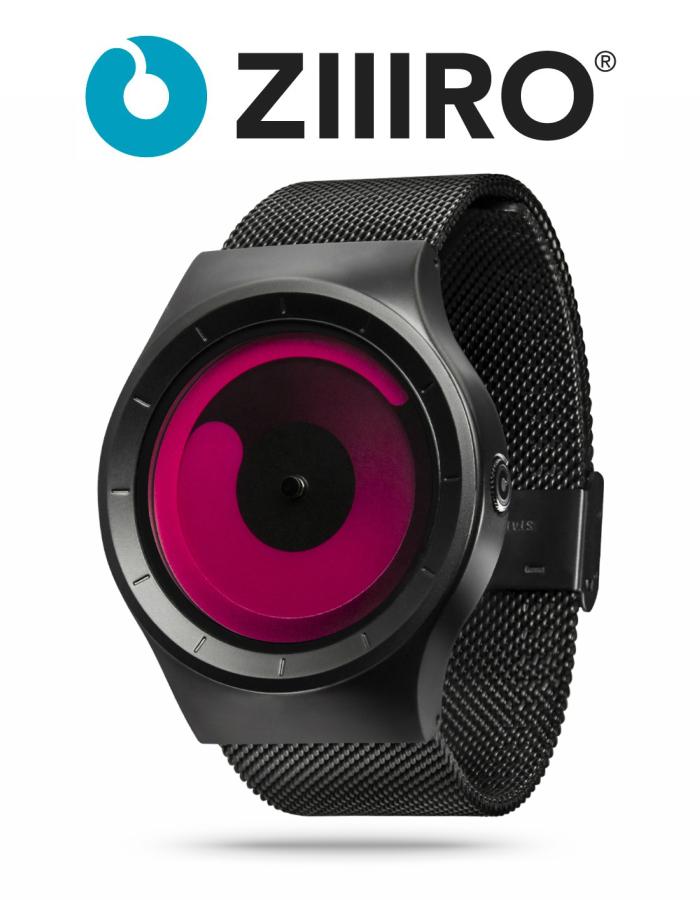 【ZIIIRO JAPAN公式】 ZIIIRO ジーロ 時計 マーキュリー 黒/赤【ドイツ デザインウォッチ】MERCURY Black/Magenta 腕時計 Z0002WB2 ユニセックス対応 ペア おしゃれ プレゼント
