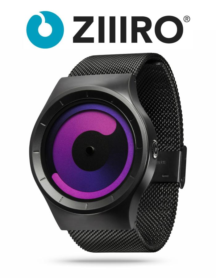 【ZIIIRO JAPAN公式】 ZIIIRO ジーロ 時計 マーキュリー 黒/紫【ドイツ デザインウォッチ】MERCURY Black /Purple 腕時計 Z0002WB3 ユニセックス対応 ペア おしゃれ プレゼント