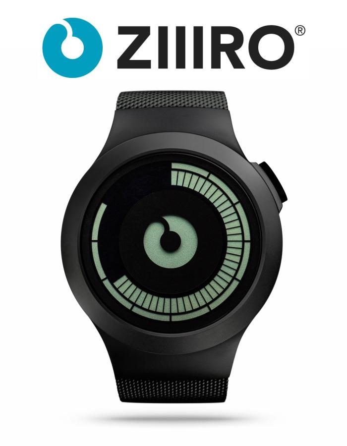 【ZIIIRO JAPAN公式】 ZIIIRO ジーロ 時計 サターン 黒 ブラック【ドイツ デザインウォッチ】Saturn Black 腕時計 Z0008WB ユニセックス対応 ペア おしゃれ プレゼント