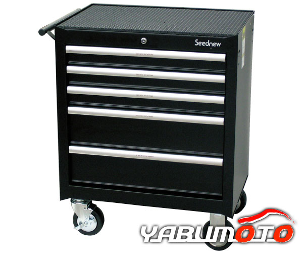 SEEDNEW ローラーキャビネット 黒 ブラック 5段引出し S-R905BL メーカー直送 代引き不可 送料無料