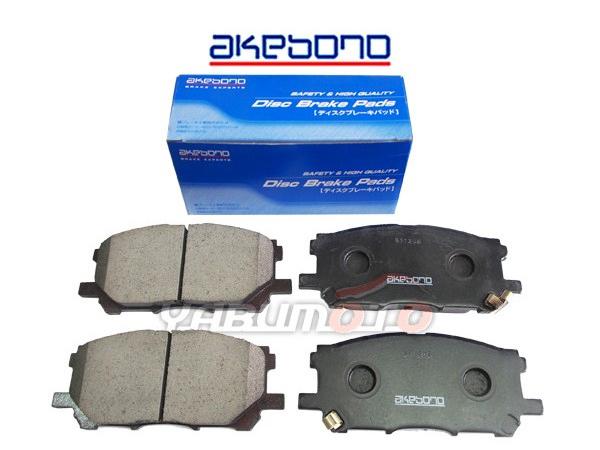 akebono ディスクパッド パット 4枚セット 社外品 ハリアー 爆安プライス ACU30W ACU35W 最安値 MHU38W 国産 純正同等 前 フロント ブレーキパッド 型式OK トヨタ AN-687WK アケボノ