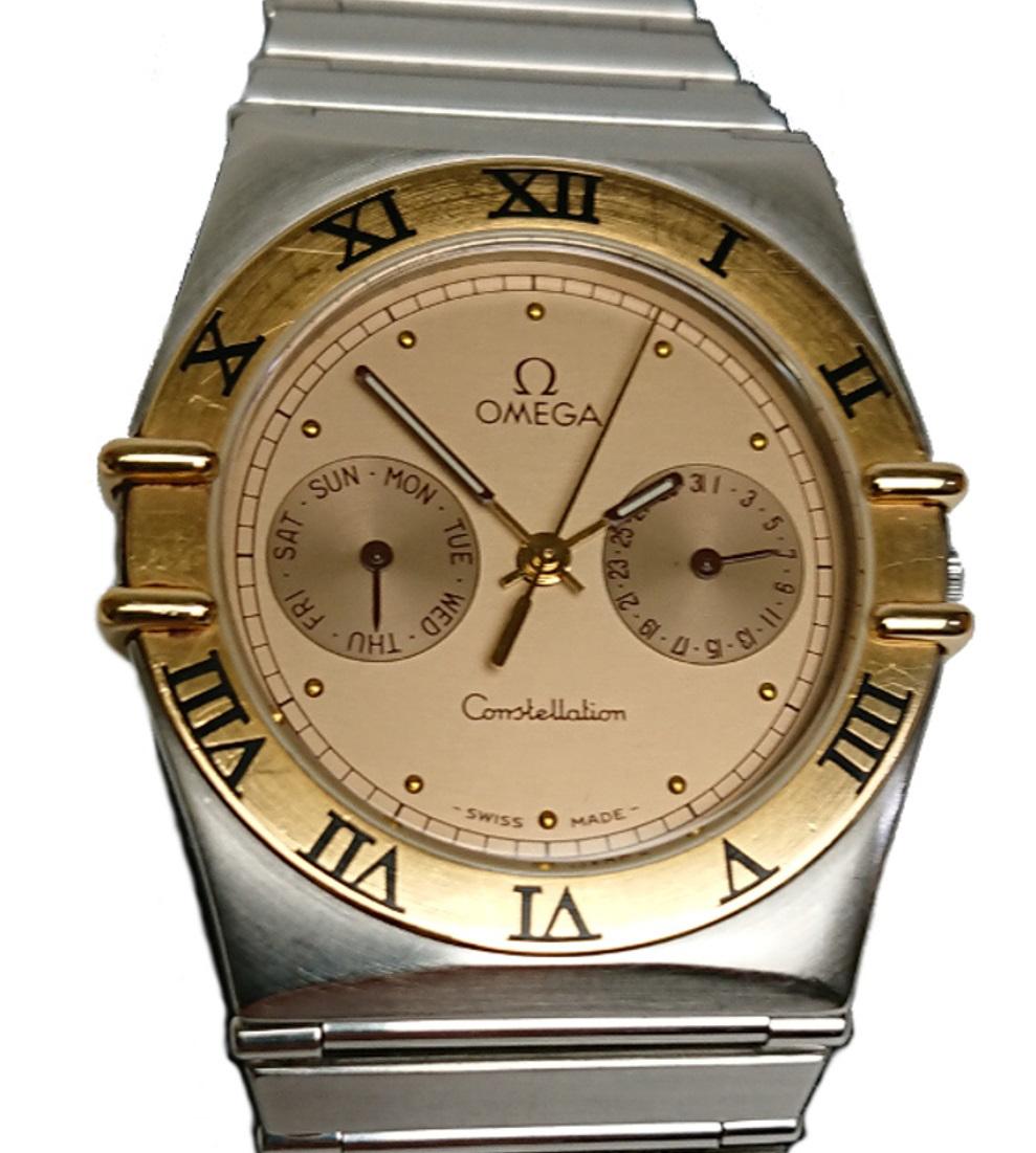 オメガ OMEGA コンステレーション デイデイト 腕時計 クォーツ メンズ ゴールドベゼル 【質屋出店】【中古】