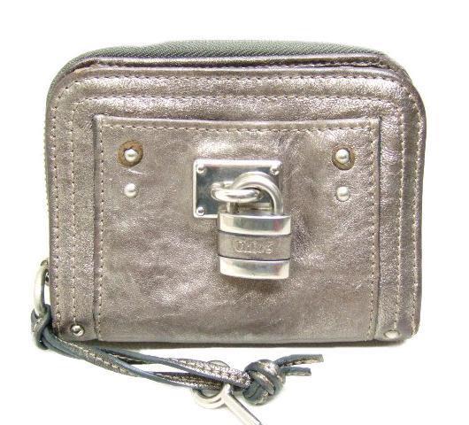 クロエ Chloe パディントン レザー 二つ折り財布 7EPM09【質屋出店】【中古】