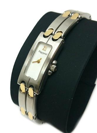 ペキネ PEQUIGNET ペキニエ ステンレス 腕時計 クォーツ レディース ホワイト 3521318【質屋出店】【中古】
