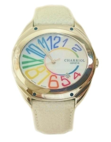 【美品】シャリオール CHARRIOL シェル フォース 腕時計 レディース FL670 FL01【質屋出店】【中古】