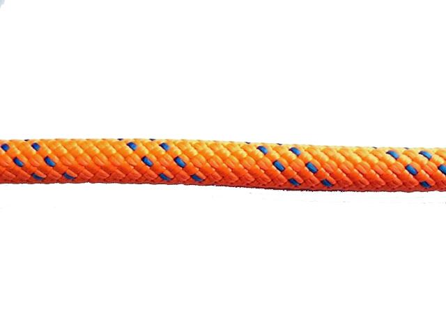 KM3スタティックロープ10.5mm×100メートル オレンジ