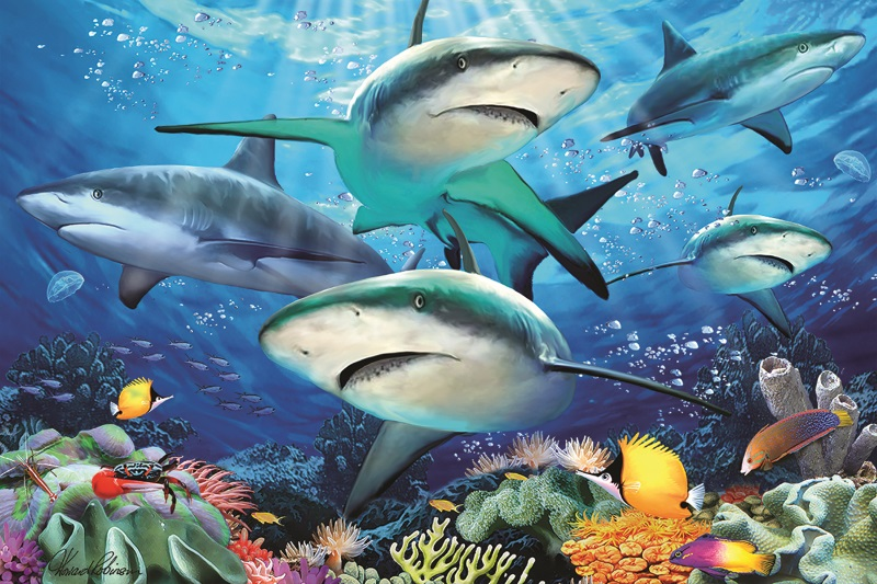 Prime3D 3D ジグソーパズル サンゴ礁のサメ 150ピース 4年保証 HowardRobinson おうち時間 <セール&特集> サメ海 脳トレ 知育玩具 プレゼント