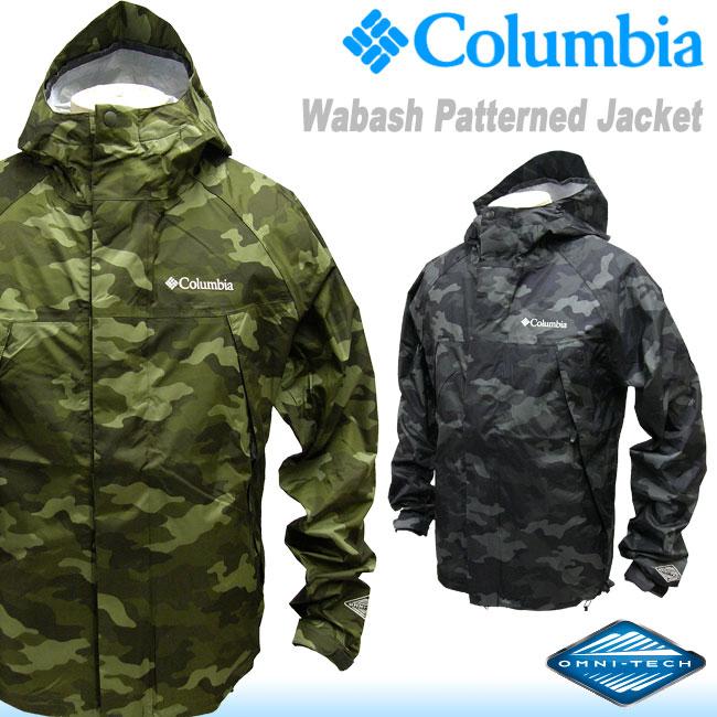 【送料無料】20%OFF[Columbia]コロンビア [WabashPatternedJacket]迷彩マウンテンジャケット[2色]PM5989/ワバシュパターンジャケット/Camoカモ柄/防水レインジャケット/パーカ/メンズ/雨具/アウトドア/フェス/キャンプ