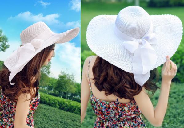644bdaffe Terra-cotta straw hat ladies collar wide Hat straw hat actress Hat Ribbon  scarf UV resort