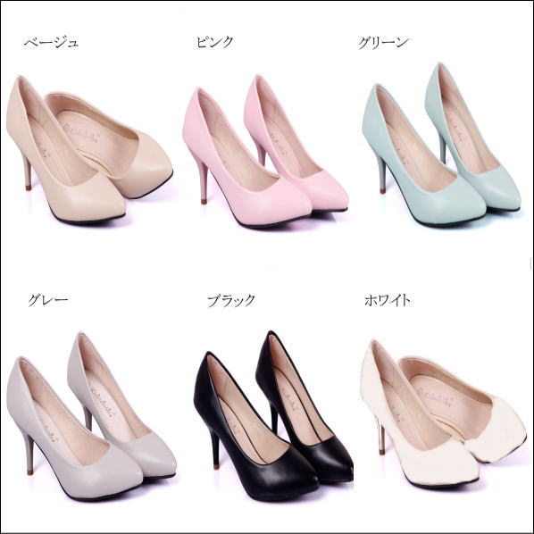 Pain pumps spring summer color trampling upper pastel work OL shoes without heel