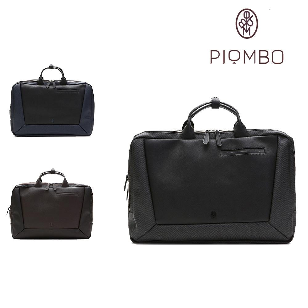 ビジネスバッグ メンズ PIOMBO ピオンボ 2way ビジネスリュック ブリーフケース PVC スピリットレザー B4対応 ビジカジ PGA-13500