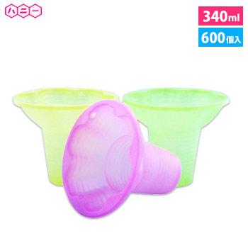 ハニー [600個入]プラスチックカップ PSプチフラワー 3色アソート [600個入]
