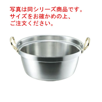 キングデンジ 料理鍋(目盛付)39cm【料理鍋】【両手鍋】【NEW KING-DNJI】【電磁調理器対応】【IH対応】【ステンレス製】