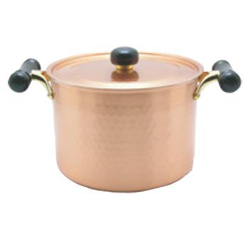 銅IHアンティック 深型鍋 IH-103 22cm【両手鍋】【銅鍋】【電磁調理器対応】【IH対応】【業務用鍋】【業務用】