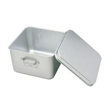 アルマイト フルーツ食缶(蓋付)255-A 305×305【給食】【食缶】