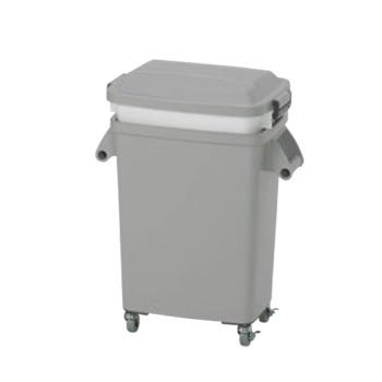 水切り厨房ペール キャスター付 グレー CW-45【材料保管】【ゴミ箱】【運搬容器】【業務用】【厨房用品】【キッチン用品】