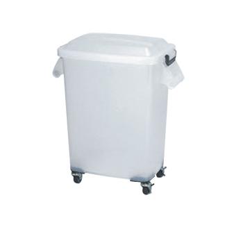 厨房ペール キャスター付 CK-70N 半透明【材料保管】【運搬容器】【業務用】【厨房用品】【キッチン用品】