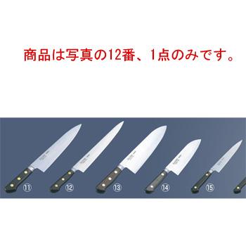 ミソノ スウェーデン鋼 ツバ付 筋引 No.124 33cm【包丁】【Misono】【キッチンナイフ】