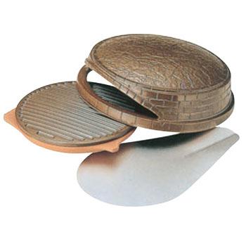 石窯オーブン ピッツエリア 陶器製 φ350×H135【代引き不可】【ピザオーブン】【石窯オーブン】