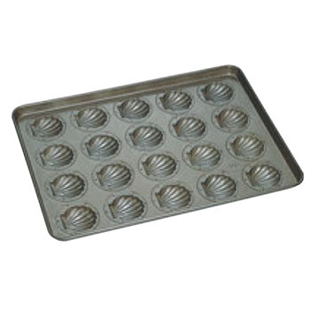 シリコン加工 ほたて貝型 天板(20ヶ取)【業務用】【オーブン天板】