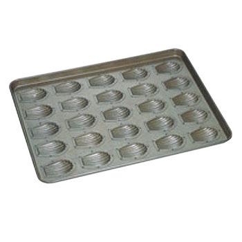 シリコン加工 貝型マドレーヌ型 天板(25ヶ取)【業務用】【オーブン天板】