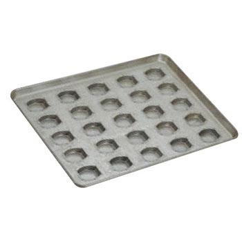 シリコン加工 タイコ型 天板(25ヶ取)【業務用】【オーブン天板】