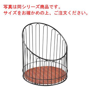 バゲットスタンド丸 DS508 低 ブラウン φ355×H300【業務用】【パンかご】