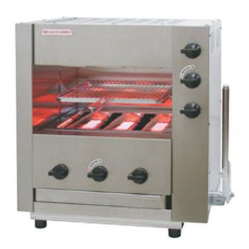 赤外線同時両面焼グリラー(下火バーナー固定)武蔵 SGR-33 LP【代引き不可】【業務用】【焼物器】【魚焼き器】
