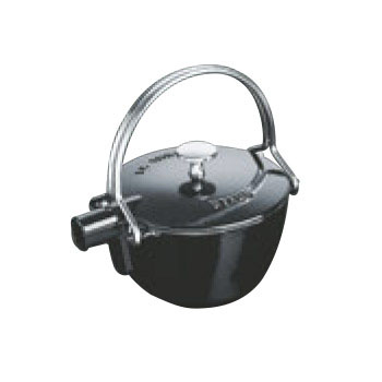 ストウブ ティーポット 丸型 1.15L ブラック 40509-421【業務用】【やかん】【ケトル】