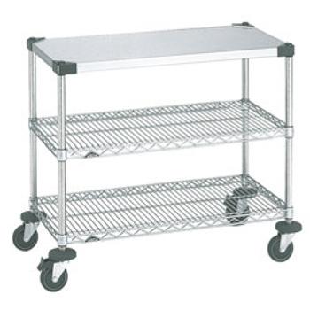 スーパーエレクターワーキングテーブル 2型 NWT2D-S【代引き不可】【キッチンワゴン】【サービスワゴン】【サービスカート】