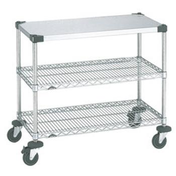 スーパーエレクターワーキングテーブル 2型 NWT2B【代引き不可】【キッチンワゴン】【サービスワゴン】【サービスカート】