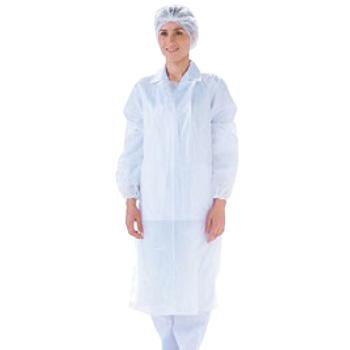 カラーエプロン(200枚×5ロール)OA301W ホワイト【前掛け】【前かけ】【作業衣】