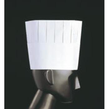 プリーツトック シェフハット(50枚入)A82110 H195【コック帽】【シェフ帽子】【コックハット】