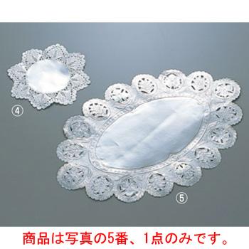 ドイリー レースペーパー 小判型 銀(500枚入)16号【ラッピング用品】【食品包装】【敷紙】