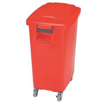 厨房ペール キャスター付 CK-70 レッド(R)【ゴミ箱】【ダストカート】【キャスター付きゴミ箱】