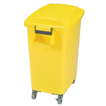 厨房ペール キャスター付 CK-70 イエロー(Y)【ゴミ箱】【ダストカート】【キャスター付きゴミ箱】