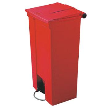 ラバーメイド ステップオンコンテナー可動式 6146 レッド 87L【代引き不可】【ゴミ箱】【ダストボックス】【ごみ箱】