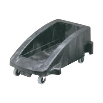 スリムジムトロリー(3541用ドーリー)3551-88 ブラック【台車】【ゴミ箱台車】【ゴミ箱カート】
