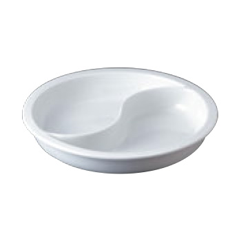 スマートチューフィング専用陶器 M 1/2 波型 11215【バンケットウォーマー】