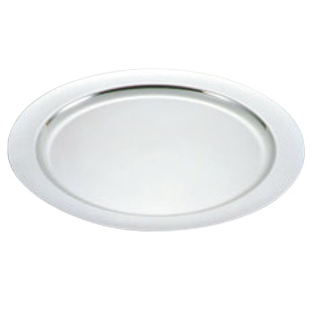 UK 18-8 プレーン 丸皿 18インチ【シルバートレー】【お盆】【トレイ】